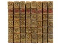 Les Oeuvres de Monsieur Moliere, Reveues, corrigees & augmentees. Enrichies de figures en Taille-douce (8 Volume Set)