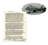"""Bockscar Co-Pilot Olivi Autographs First Page of """"Birth of the Atomic Age"""""""