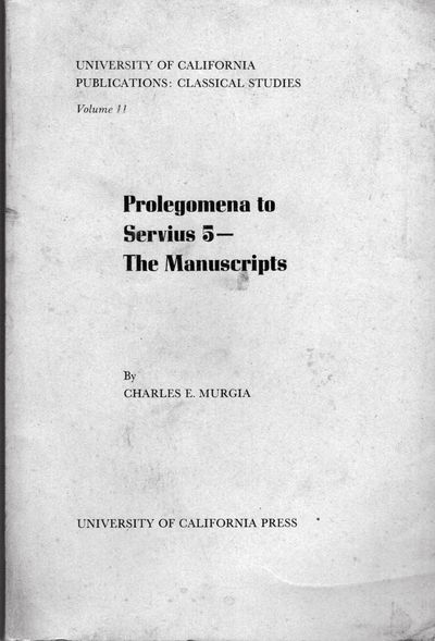 Berkeley: Univ. of California Press, 1975. First edition. Paperback. Orig. printed wrappers. Very go...