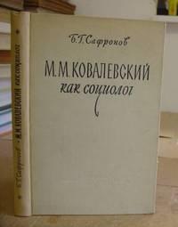 M M Kovalevskii Kak Sotsiolog