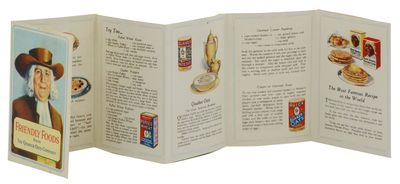 : The Quaker Oats Company, 1925. Near Fine. A single sheet, printed in color, folded into 14 pp. wit...