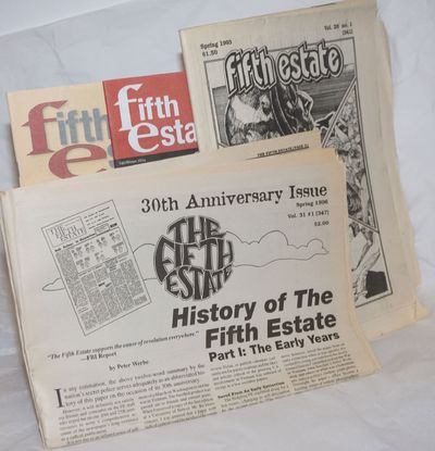 Detroit, MI: Fifth Estate, 2019. Four issues of the long-running anarchist underground newspaper, Vo...