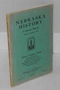 image of Nebraska history: a quarterly magazine, vol. xxii, no. 4, October-December