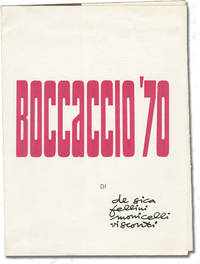Boccaccio '70 (Original film program for the 1962 film) by  Romy Schneide  Peppino De Filippo - 1962 - from Royal Books, Inc. (SKU: 144345)