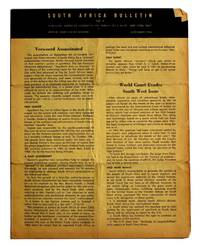 South Africa Bulletin. No. 7. [November, 1966]