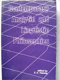 Contemporary Analytic and Linguistic Philosophies