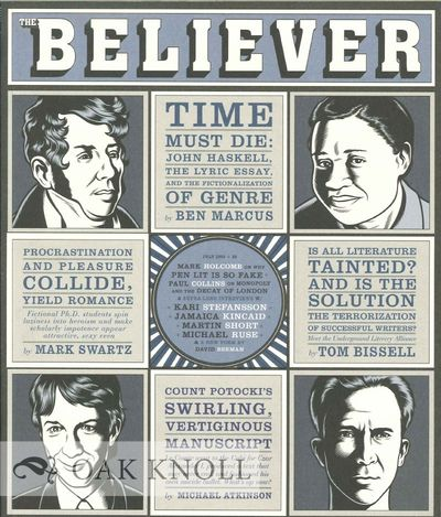 (San Francisco, CA): The Believer, 2003. stiff paper wrappers. small 4to. stiff paper wrappers. 99+(...