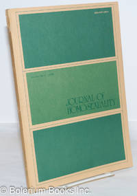 image of Journal of Homosexuality: vol. 1, #4, Summer 1976