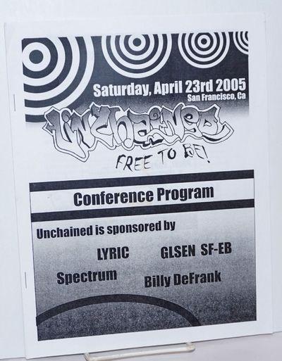 San Francisco: LYRIC et al., 2005. 21p., 8.5x11 inches, event program, services and resources, sched...