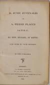 View Image 2 of 4 for D. JUNII JUVENALIS ET A. PERSII FLACCI SATIRAE; EX EDIT. RUPERTI, ET KOENIG. Cum Notis in usum Delph... Inventory #019296