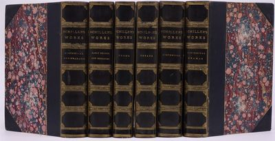 London: George Bell and Sons, 1882. RARE. Published 1882 - 1883. Three of the Schiller volumes and t...