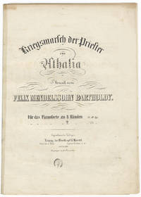 [Op. 74]. Kriegsmarsch der Priester ... für das Pianoforte zu 4 Händen Pr. 10 Ngr. [Piano 4-hands]