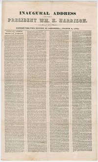 Broadside Printing of William Henry Harrison's Deadly Inaugural Address