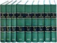 The Law Advertiser. 9 Volumes. 1823-1831. 1-1/2 feet shelf space