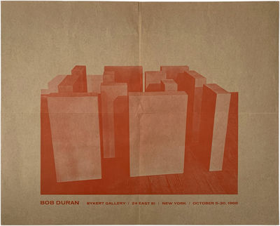 New York: Bykert Gallery, 1968. Machine-folded twice for mailing; addressed and postmarked verso. Li...