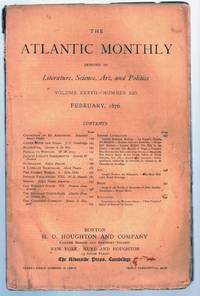 """""""A Literary Nightmare"""" in THE ATLANTIC MONTHLY, February, 1876"""
