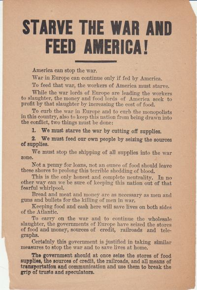 Chicago: Socialist Party. First Edition; First Printing. Leaflet. Leaflet, 6½ x 9