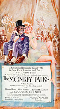 """Raoul Walsh, Production  """"The Monkey Talks"""" for Fox Films"""