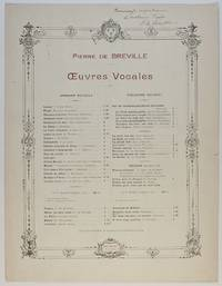 image of 'Bonjour mon coeur', light-hearted song for voice and piano, (Pierre de, 1861-1949, French Composer)