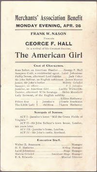 image of A Vintage 1909 Advertising Handbill for the American Girl with George F.  Hall