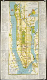 Visitors Guide to New York.  The Greatest All Year Round Vacation City. Map title: Visitors Map of New York City.