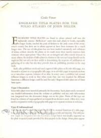 n.p.: N.P., n.d.. stapled stiff sheets. Seller, John. 8vo. stapled stiff sheets. 21-52 pages. An exc...