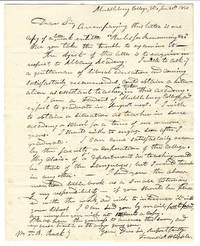 ALS from a Student of Middlebury College to Author and Physician Theodric Romeyn Beck