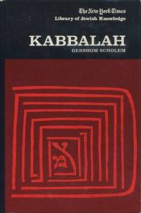 KABBALAH by  Gershom Scholem - First printing - 1974 - from By The Way Books and Biblio.com