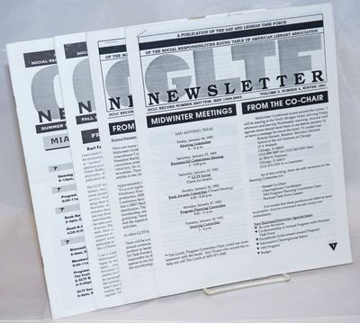 Mays Landing & Lincoln: Gay and Lesbian Task Force, 1994. Four issue broken run various pagination, ...