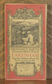 ORDNANCE SURVEY CONTOURED ROAD MAP OF fakenham Popular edition  Scale 1 inch to 1 mile- Sheet # 57