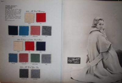 New York, 1952. First Edition. Cloth. Very Good. A handsome catalog, replete with fabric samples, fr...