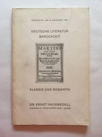 Deutsche Literature Barockzeit: Klassik und Romantik