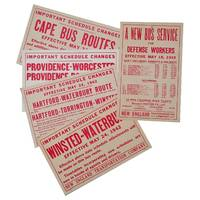 New England Transportation Co. / Five Bus Broadsides from 1942