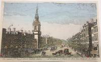 Vue d'optique of the Church of St. Mary Le Bow, in Cheapside London.