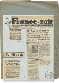 The French Ministry of Culture (Archive of press material related to the founding of the organization and its leading officials)