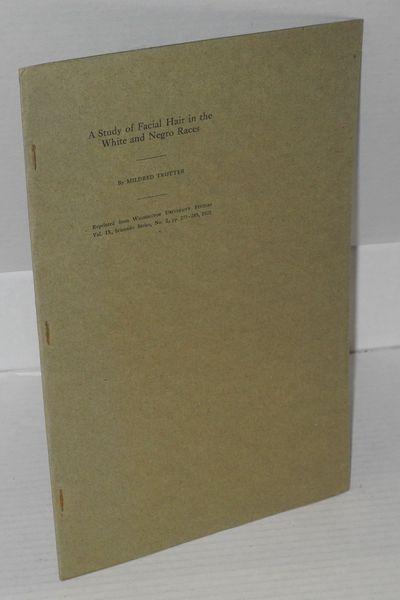 Washington University, 1922. pp. 273 - 189, 7.25x10.75 inches, illustrations, tables, graphs, unopen...