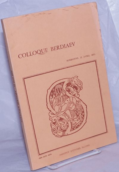 Paris: Institut d'Etudes Slaves, 1978. Paperback. 82p., softbound in 9.5x6.5 inch journal wraps. Top...