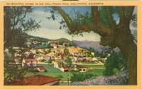 Beautiful Homes in the Hollywood Hills, California 1930s-1940s unused Postcard