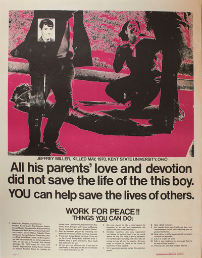 Berkeley: Berkeley Poster Workshop, circa 1970. Spots of faint wear to the extremities; in fine, exc...