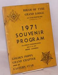 1971 souvenir program; 61st annual communication, July 11-15, 1971, Fresno, California, Golden Poppy Grand Chapter, order fo eastern Star