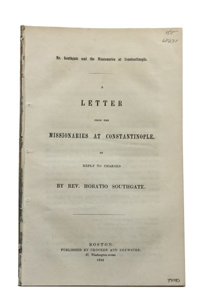 Boston: Crocker and Brewster, 1844. 1st ed. Paperback. Very Good. 7, -44p. Disbound (removed from a ...