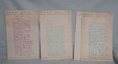 Each letter written to Francis Lawrence Bickley, author of The Adventures of Harlequin which was one...