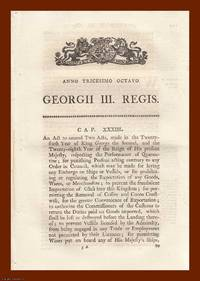 QUARANTINE ACTS, 1798-1825. An interesting selection of 5 original Acts of Parliament