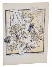 image of Fine Print - The Review for the Arts of the Book - July 1985