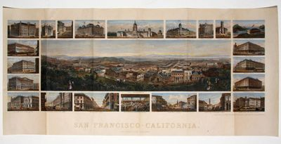 10 ¼ x 24 ¼ inches. Fine hand color; marginal mends and reinforcements at folds, else excellent. S...