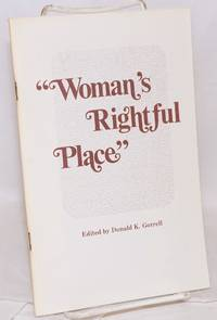 """image of Woman's rightful place."""" Women in United Methodist history"""