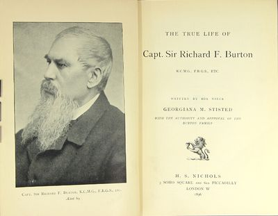 London: H. S. Nichols, 1896. First edition, 8vo, pp. xv, , 419; photographic frontispiece portrait; ...