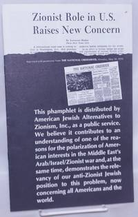 image of Zionist role in US raises new concern