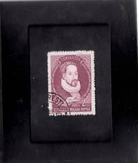 Tchotchke Stamp Art - Collectible International Postage Stamp - Spanish Novelist Miguel de Cervantes