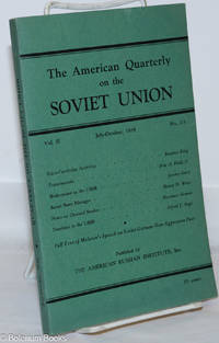 image of The American Quarterly on the Soviet Union; Vol. II, No. 2-3, July-October 1939